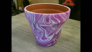 getlinkyoutube.com-Swirling(Large Terracotta flower pot swirl)