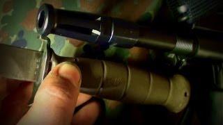 getlinkyoutube.com-Feldmesser 78 - Glock Rifle Bayonet for Steyr AUG