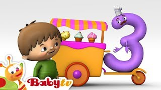 getlinkyoutube.com-Counting with Charlie & The Numbers - Charlie meets Number 3 | BabyTV