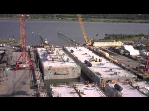 SR 520 Aberdeen Pontoon Float-Out - July 30, 2012