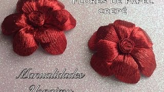 getlinkyoutube.com-FLORES HECHAS CON  PAPEL CREPE.- CREPE PAPER FLOWERS.