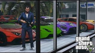 getlinkyoutube.com-GTA 5 Michaels New Garage Tour (Real Car Mods)