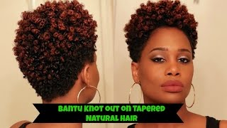 Bantu Knot Out on Tapered Natural Hair - How to | MissKenK