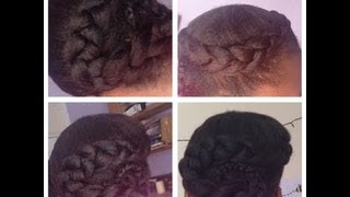 getlinkyoutube.com-♡ Protective Style - Braided Version of the Flat Twisted Version ♡
