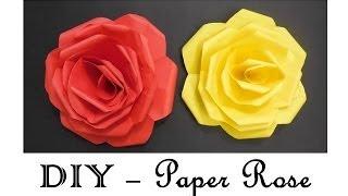 getlinkyoutube.com-DIY - How to make Paper Roses