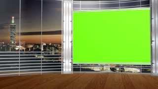 getlinkyoutube.com-FREE HD Virtual Studio set with GREEN SCREEN TV 5 different angles