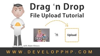 File Upload Drag and Drop Tutorial HTML5 JavaScript PHP