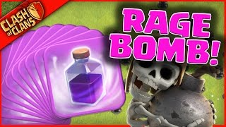 getlinkyoutube.com-DROPPING RAGE BOMBS ON YOU in Clash of Clans!