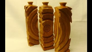 getlinkyoutube.com-woodturning multy axis vases