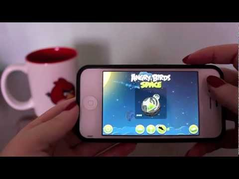 GamePlay Angry Birds Space no iPhone