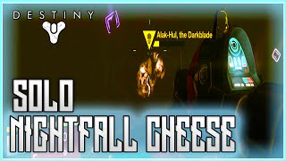 getlinkyoutube.com-Destiny The Taken King Solo Nightfall Invincibility Cheese Glitch - The Sunless Cell