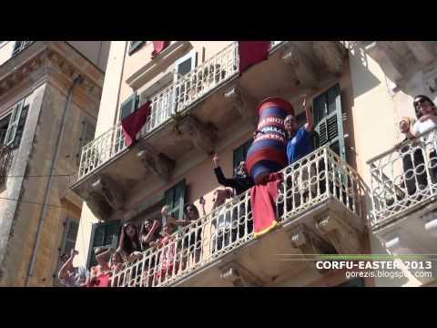 Easter in Corfu 2013 - Πάσχα στην Κέρκυρα. Φιλαρμονικές και μπότηδες
