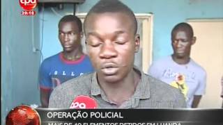 getlinkyoutube.com-Jornal Nacional Angola -  Operação Policial