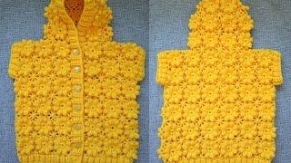 """getlinkyoutube.com-""""Детский жилет с капюшоном"""" (Children's vest with hood)"""