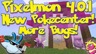 getlinkyoutube.com-Pixelmon 4.0.1 Update Review PART 2! | New Pokécenters | STATUE BUGS!?