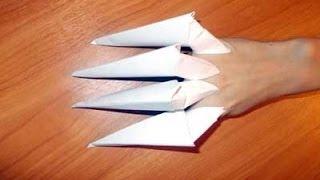 getlinkyoutube.com-Как сделать из бумаги когти