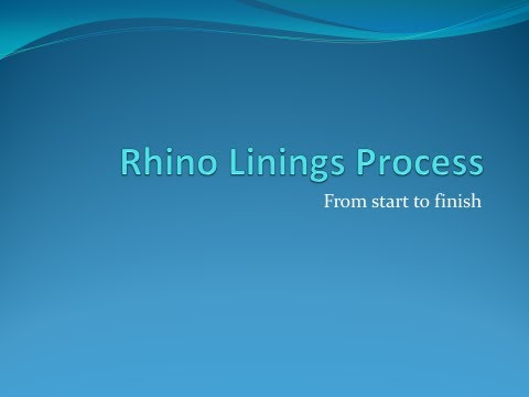 Rhino Linings process from start to finish
