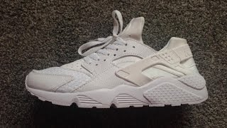 getlinkyoutube.com-Aliexpress (replica) Nike Triple White Huaraches