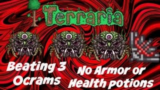 getlinkyoutube.com-Terraria ios 1.2 Beating 3 Ocrams No armor.