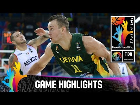 Mexico v Lithuania - Game Highlights - Group D - 2014 FIBA Basketball World Cup