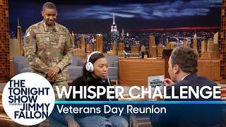 Whisper Challenge Veterans Day Reunion Surprise width=