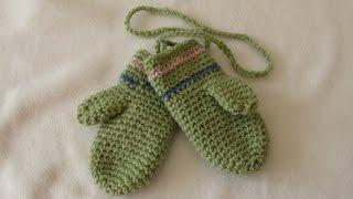 getlinkyoutube.com-How to crochet EASY children's mittens for beginners