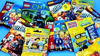 getlinkyoutube.com-Blind Bag Blowout Set 1 includes LEGO Spongebob Super Mario G.I. Joe & Chima