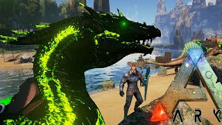 getlinkyoutube.com-Ark Survival Evolved - BADASS POISON DRAGON, GIANT DILO TAMING - Modded Survival Ep38 (Ark Gameplay)