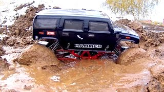 getlinkyoutube.com-MUD Action Axial Wraith and Remo Hobby Rescue Stuck In The Mud HSP Crawler — RC Cars OFF Road 4x4