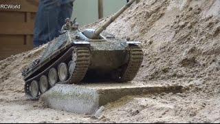 getlinkyoutube.com-RC Tanks Panzer Tiger Leopard 2 StuG III ♦ Treffpunkt Modellbau Paaren 2016