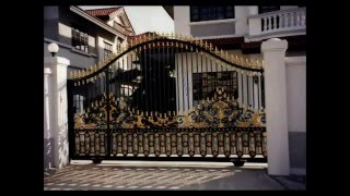 getlinkyoutube.com-Iron Gates Ornamental Custom Design Artistic Estate Main