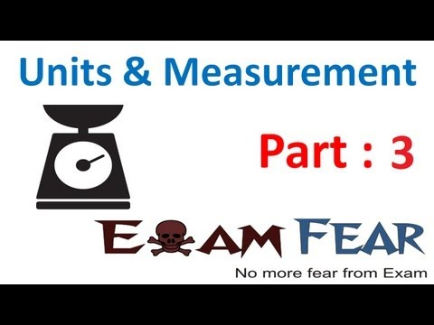 CBSE Unit and Measurement Physics Class X1 Part 3 (Range of Length and Problems)