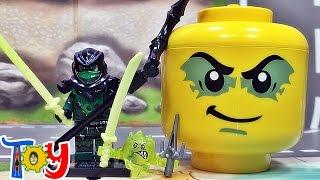 getlinkyoutube.com-sy 닌자고 이블그린닌자 모로 고스트닌자와 미니블럭보관함 레고 짝퉁 구입 리뷰 lego knockoff ninjago Evil Green Ninja