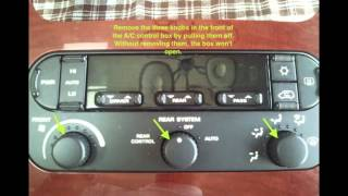getlinkyoutube.com-Fix/Replace Chrysler Town & Country A/C control backlight bulbs