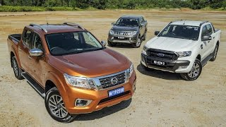 getlinkyoutube.com-DRIVEN 2015 #5: Nissan Navara vs Ford Ranger vs Mitsubishi Triton
