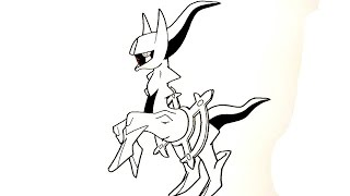 getlinkyoutube.com-อาร์เซอุส หรือ อัลเซอุซ จาก การ์ตูน โปเกมอน Pokemon สอนวาดการ์ตูน วาดการ์ตูน กันเถอะ