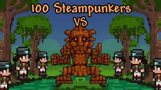 [Terraria] 100 Steampunkers vs The Golem
