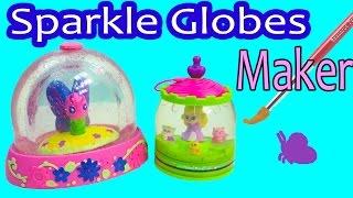 getlinkyoutube.com-Mega Glitzi Globes Inspired Water Glitter Sparkle Globes Maker DIY Craft Playset Toy Unboxing