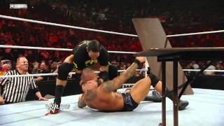 getlinkyoutube.com-Raw: John Cena vs. Randy Orton - Tables Match