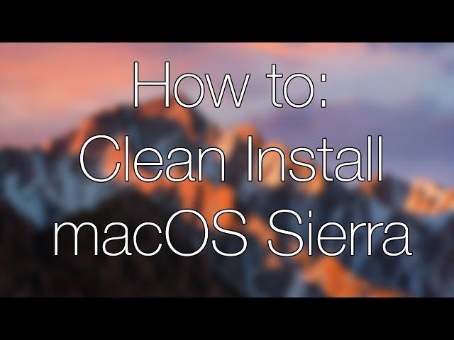 Cài đặt macOS Sierra