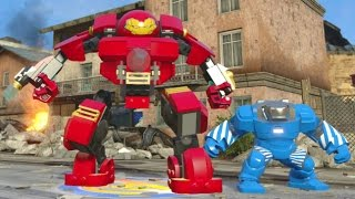 getlinkyoutube.com-LEGO Marvel's Avengers - All Iron Man Suits W/ Gameplay (Suit Up Animations + DLC)