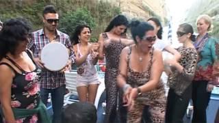 getlinkyoutube.com-Hafla on yacht - Mediterranean Delight Belly Dance Festival Loutraki, Greece, 2012