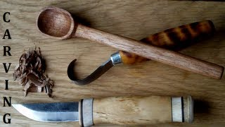 getlinkyoutube.com-Bushcraft - Spoon Carving