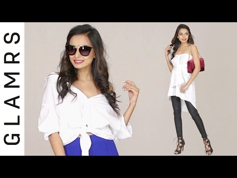 4 Chic Ways To Wear A White Shirt | Glamrs Fashion Hacks!