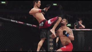 Simulación de EA Sports del duelo que disputarán Jose Aldo y Chad Mendes en UFC 179