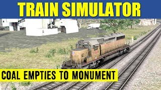 getlinkyoutube.com-Train Simulator 2013 Game Play EMD SD40-2 Coal Empties To Monument Yard Full Scenario HD