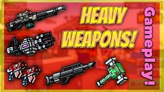 getlinkyoutube.com-Pixel Gun 3D - Heavy Weapon Gameplay!