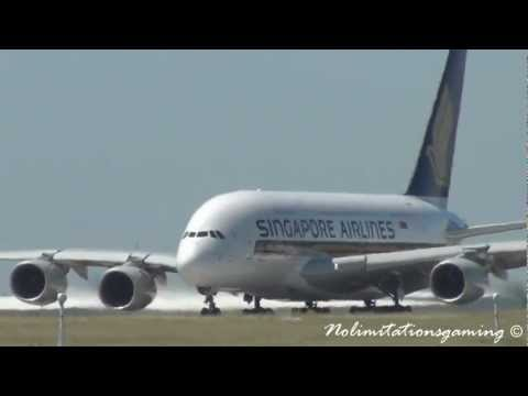 Airbus a380-800 Singapore Airlines Takeoff (Melbourne Intl) [HD]