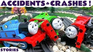 getlinkyoutube.com-Thomas & Friends Toy Train Accidents and Crashes Play Doh Paw Patrol Superman and Batman Toys