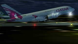 getlinkyoutube.com-Flight 787 - Advanced - Airbus A380 - [QATAR Airways from EMIRATES (OMDB) To SUDAN (HSSS)]